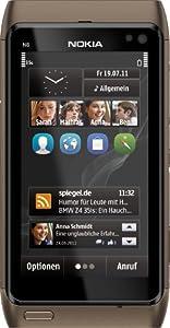 Nokia N8 Smartphone (8,9 cm (3,5 Zoll) Touchscreen, 12 Megapixel Kamera, Pinch-Zoom, Ovi Karten) bronze