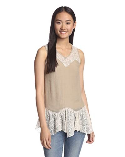 A'reve Women's Lace Peplum Top