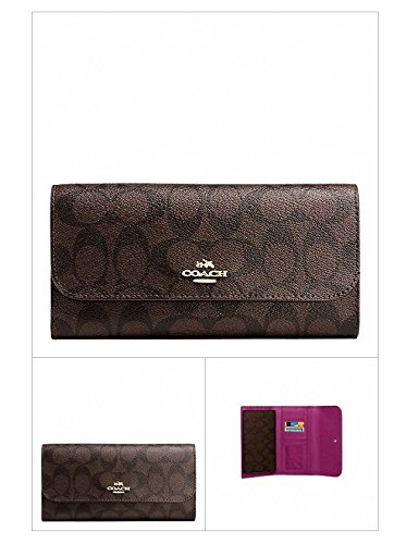 COACH CHECKBOOK WALLET IN SIGNATURE F52681