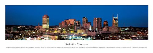 Nashville, Tennessee - Panoramic Print