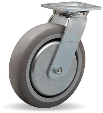Hamilton Thread Guard Plate Caster, Swivel, Rubber Wheel