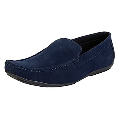 Buwch Menu0026#39;s BLUE Loafer Shoes-10UK Buy Online At Low Prices In India - Amazon.in