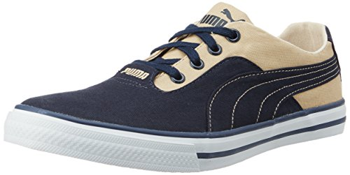 Puma Unisex Nestor Plus DP Peacoat and Pale Khaki Sneakers - 8 UK