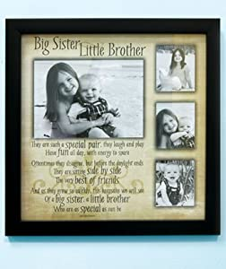 Sibling Collage Frame Big Sister Little Brother Amazon Co