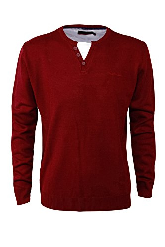 pierre-cardin-mens-new-season-mock-y-neck-knitwear-xl-burgundy