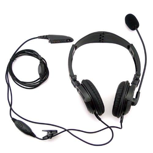 Professional Overhead Noise Cancelling Headset Earpiece Boom Microphone For Multipin Motorola Radio Ht1250Ls Ht1550 Ht1550Xls Mt850 Mt850Ls Mt950 Mt8250 Etc.
