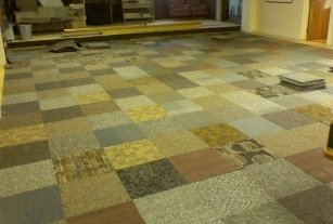 New Carpet Tiles - Commercial Grade Mixed Random Tile -720 Square Feet (Phone Number Required for Delivery) Overstock Discounted Flooring Wholesale Best Basement Bargain photo