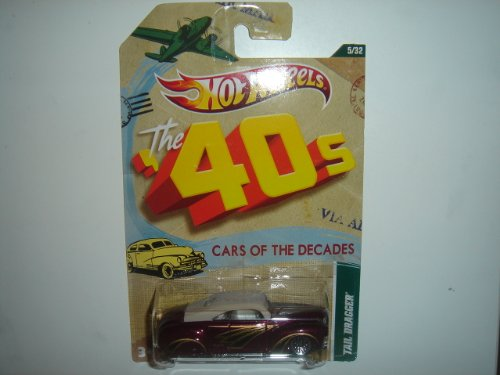2012 Hot Wheels 40s Cars of the Decades Tail Dragger Dark Purple/Cream #5/32