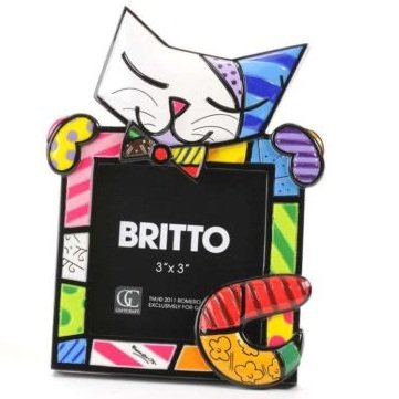 Romero Britto Sugar Cat Picture Frame