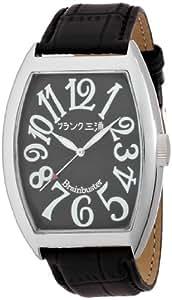 [フランク三浦]MIURA 六号機(改) 正回転 禁断の巨大化モデル 完全非防水 腕時計 ジャパンクオーツ FM06K-BK