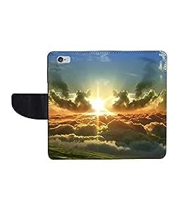 KolorEdge Printed Flip Cover For Apple IPhone 6 - Multicolor