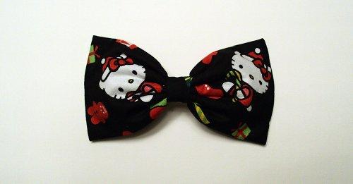 A Very Hello Kitty Christmas Hair Bow Barrette
