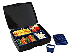 bento lunch box usa made with leak proof containers black and blue amazo. Black Bedroom Furniture Sets. Home Design Ideas