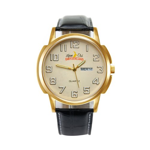 ALPINE CLUB 010-YEL-BLK-GLD IGP MEN'S WATCH BY SWISS MILITARY