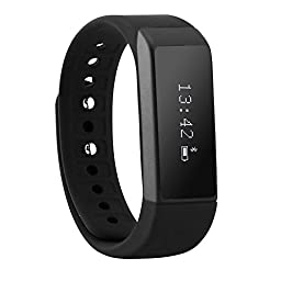 TopOne i5 Plus Smart Bracelet Bluetooth 4.0 Waterproof OLED Touch Screen Fitness Tracker Wireless Activity Wristband Sport Smart Wristband Sleep Monitor Call Reminder for Smartphone