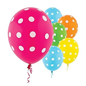Latex Bright Polka Dots Balloons - 20ct from AMSCAN *