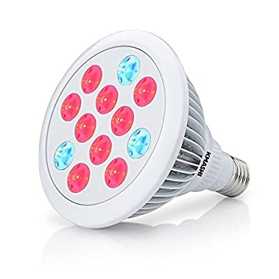 KMAHI LED Grow Light 24W E27 Plant Light Plant Growing Bulb for Garden Greenhouse Plants Growing Lamps