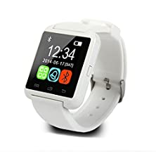 buy Lit&Life U8 Plus Bluetooth Smart Watch Wristwatch Phone Mate For Iphone 5 5S 6 6 Plus Android Phones(White)