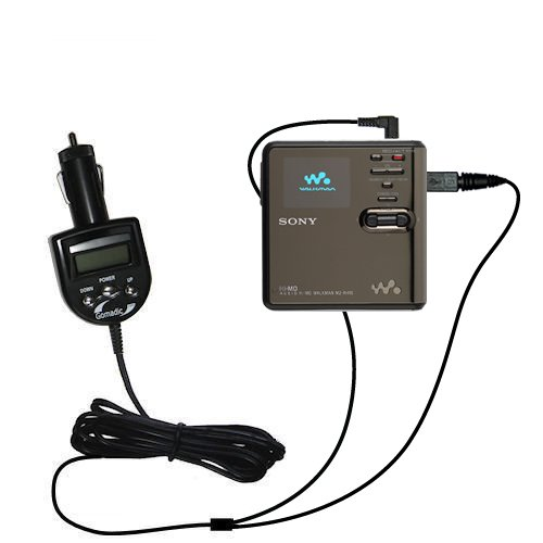 Sony Md Walkman Mz-Rh Compatible Integrated 12V Dc Car Charger And Fm Transmitter - Uses Gomadic Tipexchange To Play Music On The Fm Radio
