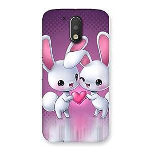Ajay Enterprises 2 Cute White Kitty Back Case Cover for Motorola Moto G4