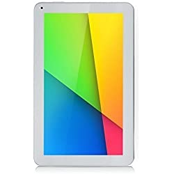 "iRULU eXpro 1Plus Tablet (X1Plus) 10.1"" Google Android 5.1.1 Lollipop Quad Core 1G 8GB - fronte bianca e dietro bianco"