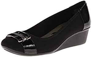 AK Anne Klein Sport Women's 7 Detoni Fabric Wedge Pump, Black, 10 M US