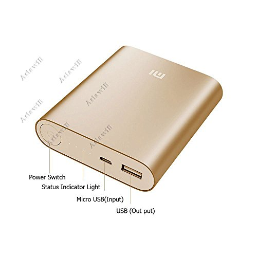 Asiawill® 10400Mah Usb Mobile Power Source Bank Power Bank W/ 4-Led Indicators Compatible With Apple, Samsung, Htc, Nokia, Blackberry Etc - Golden
