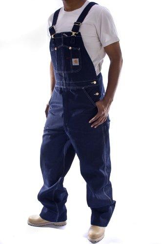 Carhartt  Latzhose, Denim  Indigoblau jeanslatzhose jeans latzhosen männer  BekleidungBewertungen und Beschreibung