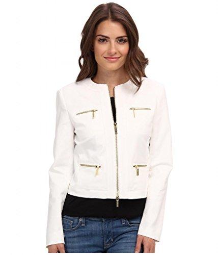 Michael Michael Kors Petite Zippered Jacket, 12P, White
