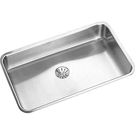 "Elkay ELUH2816PD Gourmet Perfect Drain Undermount Kitchen Sink, 30.5"" x 18.5"" x 7.5"""