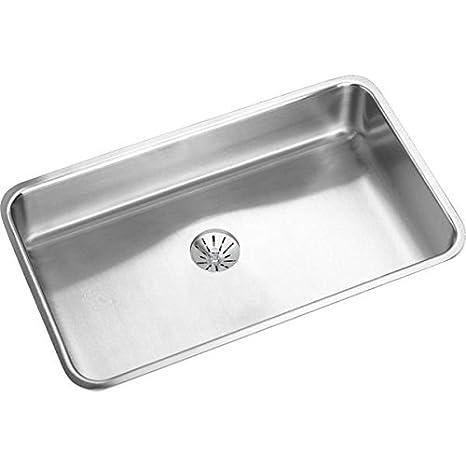 "Elkay ELUH2816PD Gourmet Perfect Drain Undermount Kitchen Sink, 30.5"" x 18.5"" x 7.5"""