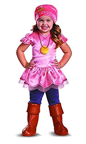 Jake and the Never Land Pirates Izzy Deluxe Costume - Small 2T