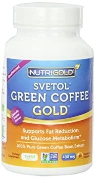 NutriGold Pure Green Coffee Bean Extract, 90 Vegetarian Capsules