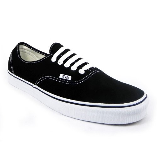 Vans Authentic Canvas Womens Trainers Ladies Lace Up Plimsolls Shoes Black WT, Size 5 UK