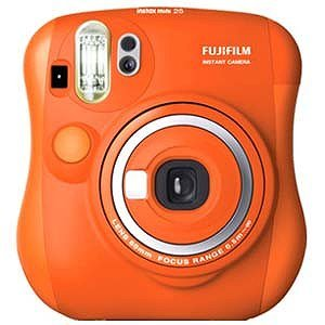 Fuji Instax Mini 25 Limited Edition Orange Color + 10 Rainbow Films / Fuji Instant Camera