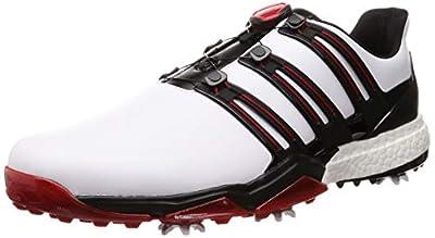 [アディダスゴルフ] ゴルフシューズ スパイク Powerband Boa Boost パワーバンド ボア ブースト メンズ ホワイトコアブラックスカーレット 24.5 Cm 3e