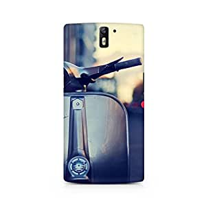 Mobicture Vespa Silver Premium Printed Case For OnePlus One