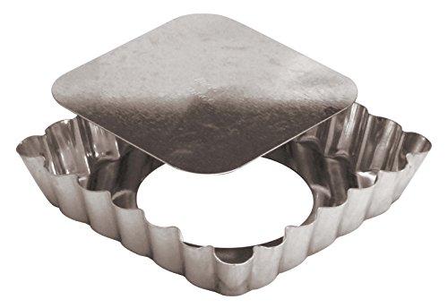 Paderno World Cuisine Square Tin Tart Pan, 3-7/8-Inch