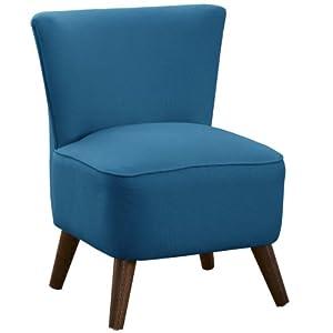 Skyline Furniture Mid Century Modern Chair in Lamont Pool