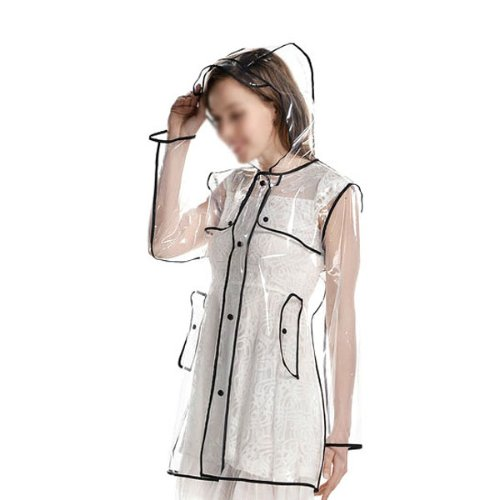 new-fashion-lovely-girl-woman-hooded-raincoat-pvc-cute-waterproof-rainwear-black