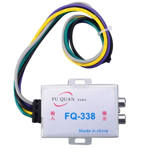 Fq-338 Zinc Alloy Car High To Low Impedance Converter - Silver