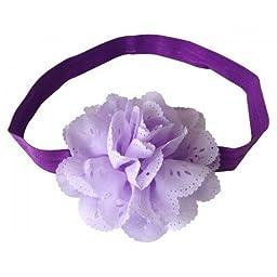 Needybee Baby Girls\' Flower Headband Onesize Purple