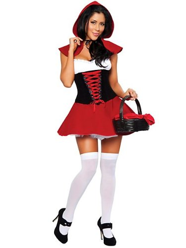 Red Hot Riding Hood Costume - Large - Dress Size 8