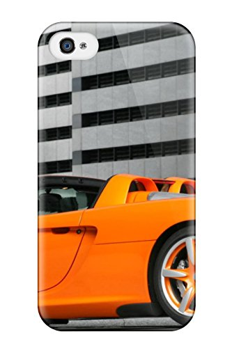 Awesome Orange Car In An Underground Parking Flip Case With Fashion Design For Iphone 4/4s