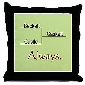 CafePress Beckett Castle Caskett Always Throw Pillow - Cover Multi