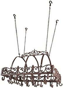 Esschert Design KB08 Cast Iron Kitchen Hanging Pot Rack
