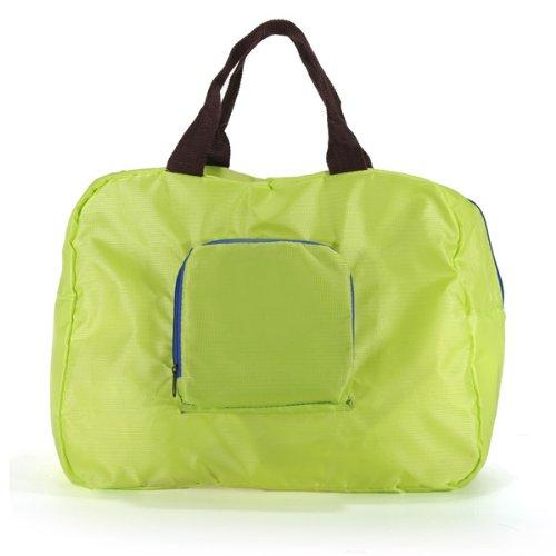 Green Reusable Waterproof Travel Shopping Shoulder Bag Folding Handbag
