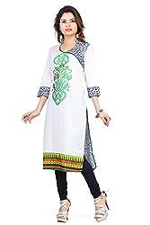 Feather Touch Women's Cotton Kurti (FT3127GR3_Green_44)