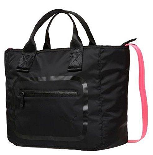 Puma Dazzle Handbag-Borsa sportiva/Borsa a tracolla 32x 37x 13cm (13.5L) nero/rosa taglia unica