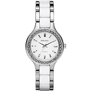 DKNY Ceramica White Dial Ladies Watch NY8139